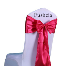 Wholesale Chair Sashes Bow Satin Cheap Price pc Set Good Quality Satin Silk Fabric Ribbon Chair Cover Sashes Bow tie Satin for Wedding Decoration