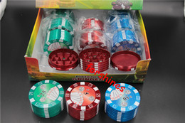 6pcs lot,epacket free shipping to USA uk,New Metal Three Layers 51mm Tobacco cigarette Grinder Poker Style Herb Hand Muller for Smoking Pipe