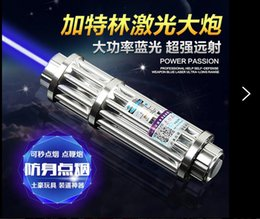Wholesale Strong power military Watt nm blue laser pointers burn apple matches smoke paper dry wood candle black glasses charger box