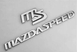 1 set Mazda metal MS car sticker badge M3 M6 metal MS MAZDASPEED auto logo emblem