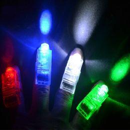 2016 laser conduit doigts Chistmas cadeau LED doigts Finger Bright Lights anneau Glow LED laser jouets conduit la lumière de la lampe de doigt lumière doigt Halloween décoration jouet E1497 laser conduit doigts autorisation