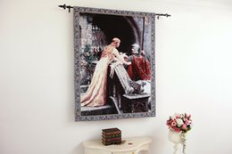 Wholesale The Godspeed Medieval Knight Fine Art Tapestry Wall Hanging Home Decor Gift Cotton Jacquard Woven x cm