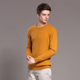 Wholesale The United States is the new winter men s cashmere sweater T shirt business casual kraepelini twisting head warm color sweater thickening se
