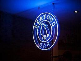 Wholesale 2016 LED Seafood Bar Real Glass Neon Light Signs Bar Pub Restaurant Billiards Shops Display Signboards quot x14 quot