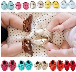 Wholesale Baby First Walkers Leather baby moccasins colors Best Gift Good for Resale