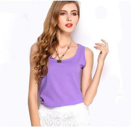 Summer Chiffon Tops for women Solid Sleeveless Vest Fashion Elegant Ladies shirt pullover Strap Tops Plus size XXXL