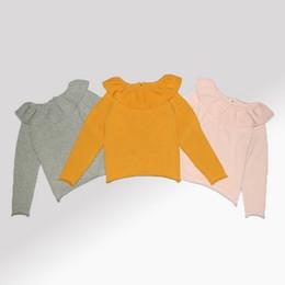 Wholesale Girls Sweater Christmas Kids Clothing Autumn Winter Knitting Sweater Korean Fashion Long Sleeve Lotus Leaf Collar Sweater ER