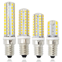 Wholesale E14 Mini LED Light Dimmable SMD2835 LEDs Bulb W W W W Crystal Chandelier V Spotlight Fridge Refrigerator Lamp