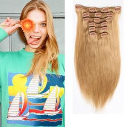 Clip in Hair Extensions Brazilian Remy Human Hair 16-26inch #613 Bleach Blonde Full Head Straight Human Hair 70-220g 7pcs set Multi Colors