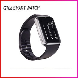 Wholesale Best Discount Bluetooth Smart watch SIM Intelligent card Wirst GSM Sport Smart Watches GT08 phone mate For Apple Andriod Samsung Cell Phones