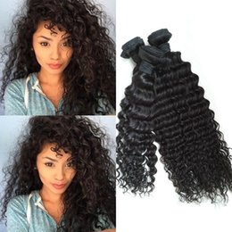 Indian Curly Virgin Hair Only 3pc lot Indian Hair Deep Curly Weave 8-30 inch Black Raw Virgin Indian Hair deep Curl Weave G-EASY
