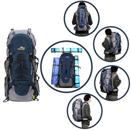 Outdoor Bags Hiking Backpack With Adjust Straps Camping Shoulder bags Waterproof High Quality Convenient to use 50L Factory Price On Sale