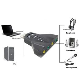 Wholesale 3D Audio Sound Card Adapter Channel Card Adapter Mic Speaker USB Cheap speaker internal