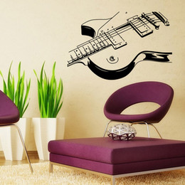Wholesale Guitar wall stick The sitting room the bedroom wall stickers Indoor wall post Personality wall stick
