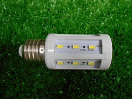 E27 5W 24 LEDs 500LM White LED Corn Light Bulb White light Ultra Bright With Lighting Angle of 360 Degree, 3000-6500K , Daylight 85-265v, En