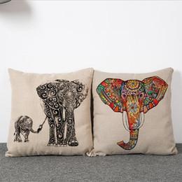 45cm Elephant and Christmas Deer Cotton Linen Fabric Waist Pillow 18inch Fashion New Home Gift Coffeehouse Decoration Sofa Car Cushion