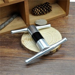 Wholesale 1 X High Quality Aluminum metal Pollen Press Presser Compressor Herb Grinder Tobacco Spice Crusher Grinder