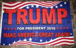 Wholesale Fedex DHL Free Donald Trump x5 Foot Flag Make America Great Again Donald for President USA L315