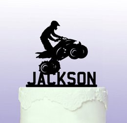 Wholesale Acryli ATV Quad custom name birthday cake toppers wedding bridal baby shower Bachelor party theme decorations