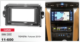CARAV 11-600 Car Radio Fascia Panel for TOYOTA Fortuner 2015+ (Piano Black) Stereo Fascia Dash CD Trim Installation Kit