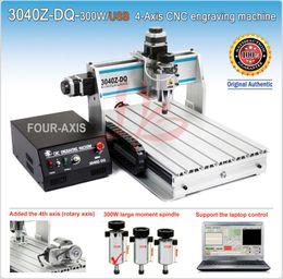 Wholesale 3040Z DQ W USB axis cnc engraving machine with ball screw rotary axis mini stone cutting machine