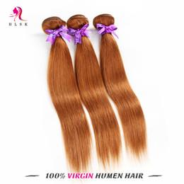 Hot Sale Brazilian Straight Braiding Hair Light Brown Wholesale Hair Products 4# Peruvian Braiding Straight Hair 100% Unpeocessed 3pcs lot