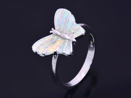 Wholesale & Retail Fashion Fine White Fire Opal Ring 925 Silver Plated Jewelry For Women EMT1517010