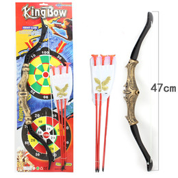 Wholesale-47cm Hot Saling In Chinese Vintage Style Bow Arrow Non-toxic Plastic Material Outdoor Fun&sports