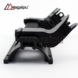 Tactical Front Rear RTS Rapid Transition Sights Offset 45 Degree Angled Iron Sight SET