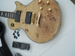 Brand New High Quality Mahogany Body with flame maple top Electric Guitar with all golden accessories