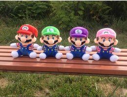 Wholesale 4Colors CM Super Mario Bros Plush Toys Marie Luigi Soft Stuffed Dolls Children Gifts Carton Toys epacket