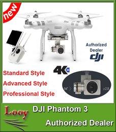 Promotion 4k caméra drone DJI Phantom 3 Professionnel / Avancé / Stardard Drones Caméras inclus 4K Vidéo 12 mégapixels Photo HD Caméra Quadcopter Drone Livraison gratuite