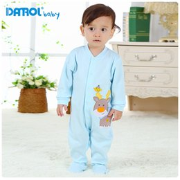 100% pure cotton baby long sleeve rompers with foot wrapped for spring