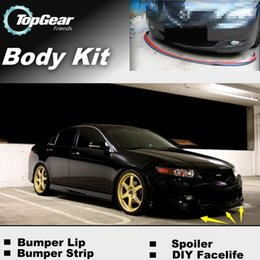 Wholesale For Acura TSX The Stig Recommend Body Kit Front Skirt Deflector Spoiler For Car Tuning Bumper Lip Strip