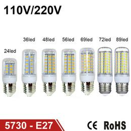 2017 ampoule g9 conduit LED blanc chaud E27 Ampoules LED 7W 9W 12W 15W 18W 3000 Lumen Cree SMD 5730 Avec couverture 48 leds GU10 E14 B22 G9 LED Lights Corn Lighting ampoule g9 conduit sortie