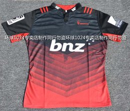 Wholesale Rugby League New Zealand Super Rugby Union Crusaders High temperature heat transfer printing jersey Rugby Shirts
