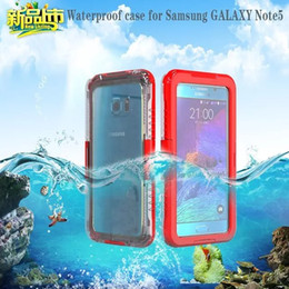 Waterproof Shockproof Pc + silicone Transparent Clear Phone case Cover for Samsung Galaxy S6 S7 S7 edge Note 5 Water proof Armor