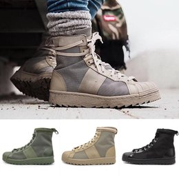Wholesale Cheap Superstar Jungle Tooling Outdoor Boost For Womens Black Green Oxford Tan Running Shoes Mens Hiking Boots Shoes Sale Size US5