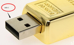 Wholesale DHL shipping Gold bar GB GB GB USB Flash Drive in metal Pen Drive USB Memory Stick Drive Pendrive2016 new arrived