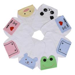 Baby Sweatbands Children Cotton Cute Animal Pattern Pad Towel Soft Gauze Absorbable Sports Sweat Towel Newborn Cartoon Bibs 20CM*26CM
