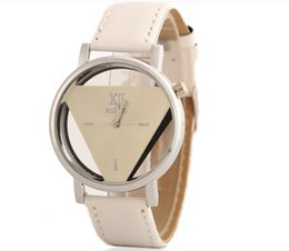 Wholesale 2016 The explosion of fashion obtriangular personalized double sided hollow Korea Student Couples table style union watch