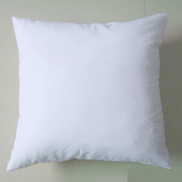 1pc plain white color 250GSM cotton canvas cushion cover with hidden zip for custom DIY print blank cotton pillow cover any color