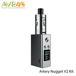 Wholesale Original Nugget v2 kit with w ii TC vape mod internal mah battery and ml Top Filling Sub ohm Track Tank with Kanthal A1 SS316 Coil