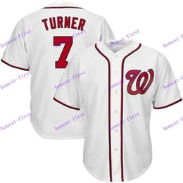 Wholesale washington nationals trea turner white cool base playe MLB Baseball Jerseys Elite Cool base Jersey Authentic Stitched