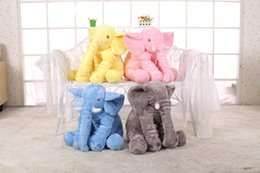 2016 New Cartoon Animal Elephant Baby Pillow Cushion Foldable Baby Bed Seat Cushion Portable Kids Big Elephant Plush Toy Toddler