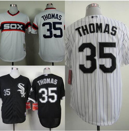Wholesale Top quality chicago white sox Frank Thomas Cool Base Jersey white gray black best stitched men s baseball shirts