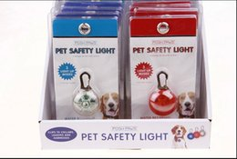 Wholesale LED flash safety night light clip safety pendant tag lights dogs Blinker Collars equipment colors pet collars pendant