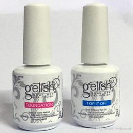 Wholesale 10pcs Choose colors Base Coat Top Coat High Quality Soak Off Nail Gel Polish For Nail Art Gel Lacquer Led uv Gelish Nail Polish