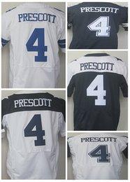 Wholesale Big discount NEW Dak Prescott Cowboys blue white thanksgiving day Stitched Elite Football Jerseys Free Drop Shipping Mix Order