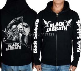 Wholesale-BLACK SABBATH LINE UP MUSIC HOODIE Band World Tour heavy metal CLASSIC METAL black 100% cotton hoodie